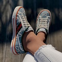 GUCCI GG Tennis 1977 Low Mens and Womens Canvas Shoes-1