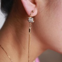 Korean Accessory Tassels Earrings [36787552263]