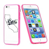 Popular Apple iPhone 6 or 6s Cali State California Dope Trill Swag Cute Gift for Teens TPU Bumper Case Cover Mobile Phone Accessories Hot Pink