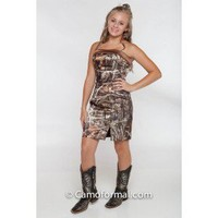 Short Slim Camo Dress for Formal  Camouflage Prom Wedding Homecoming Formals