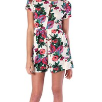 Buzzing About Romper - Floral Print