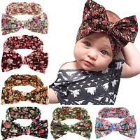 Baby Kids Girl Toddler Infant Flower Floral Hairband Turban Rabbit Bowknot Baby Headband Headwear Hair Band Accessories kt-038
