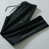 NIKE Black Just Do It Drawstring Pants Trousers Sweatpants H-JJ-LHYCWM