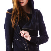 POL Clothing Doomsday Studded Zip Jacket Black