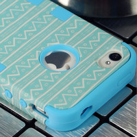 For Apple iPhone 4 4S Hybrid Rubber Rugged Combo Matte Case Hard Cover w/Protect