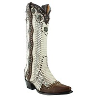 Old Gringo Women's Cheryl Natural Cobra Western Boots- Size 7