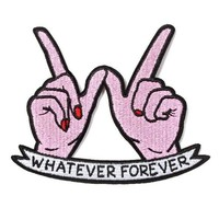 Whatever Forever Patch - Pink