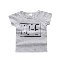 Boys T-Shirt for Baby Infant Toddler T shirt Cotton Short Sleeve Tees Letter T-shirt Tee Top Kids Clothes
