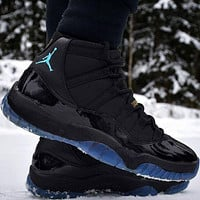 "Nike Air Jordan 11 ""Gamma Blue"" Fashion High-Top Men's Basketball Shoes Casual Sports Shoes"