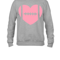 football heart Unisex Tank - Crewneck Sweatshirt