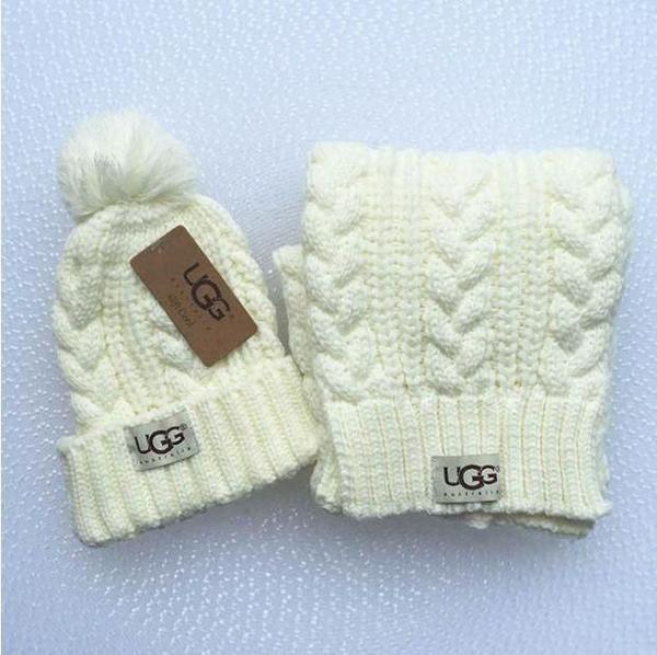 Image of UGG men and women winter knit fashion hats & scarves