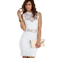 Sale- Ivory Lace Angel Midi