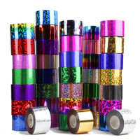 Nail Transfer Foil Roll 79 Style for Choice Colorful Star Style Nail Sticker Transfer Manicure Nail Decoration