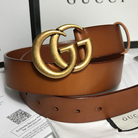 GUCCI classic double G buckle men and women wild belt