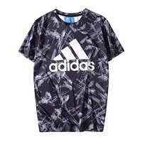 Adidas Fashion New  Letter Print Women Men Top T-Shirt