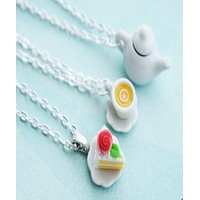 Tea Party Friendship Necklace Set