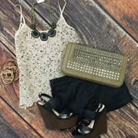 Crochet Dreams Top: Mocha