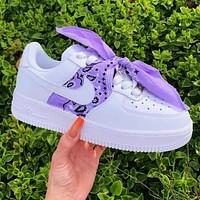 Nike Air Force1 AF1 silk scarf retro cashew nut headband square scarf Bandana bow Purple
