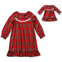 Dollie & Me® Holiday Plaid 2-Piece Pajama Set