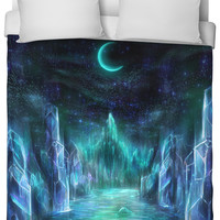 The midnight realms duvet cover