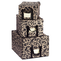The Container Store > Baroque Taupe Fabric Storage Boxes by reisenthel®