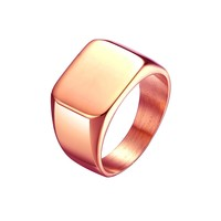 Mister Signet Ring - Rose Gold