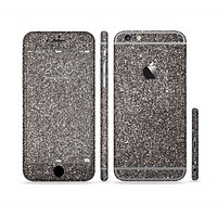The Black Glitter Ultra Metallic Sectioned Skin Series for the Apple iPhone 6 Plus