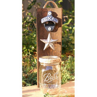 Rustic Pallet Wood, Beer Bottle Opener and Cap Catcher, Texas,Dallas Cowboys Gift, Gift for Groomsmen, Gift for Dad,Wall Mount Opener
