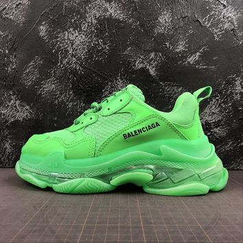 Balenciaga Triple S Clear Sole Trainers Sneakers SNEAKER TESS.S.GOMMA Apple Green With Air Bubble - Best Online Sale
