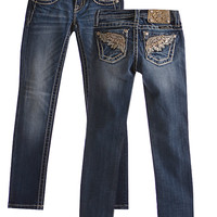 Miss Me Girls Skinny Jeans with Embellished Pockets