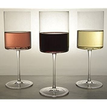Opulent Wine Glass - Set of 4 - Perfect for Drinking Red and White Wine - Made From 100% Lead Free Crystal - 15oz - Drink Your Wine In Style With Your New Modern & Chic Opulent Wine Glasses!