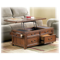Signature Design by Ashley Woolwich Trunk Coffee Table with Lift-Top