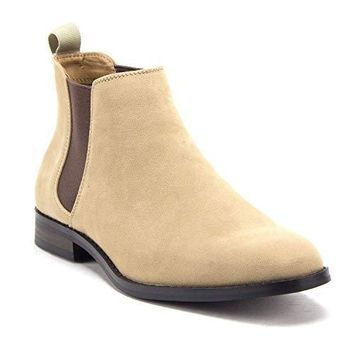 Men's B-2963 Chuck Nubuck Suede Pull-On Round Toe Chelsea Boots