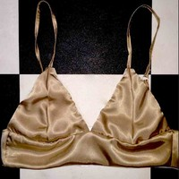 SWEET LORD O'MIGHTY! SILK KITTEN BRALET IN SANDSTONE