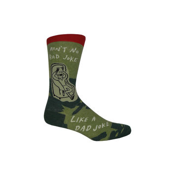Dad Joke Crew Socks in Green