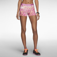 """Nike 3"""" Pro Core Compression Printed Women's Shorts - Red Violet"""
