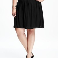 Pull-On Plus-Size Swing Skirt   Old Navy