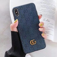 GUCCI New fashion more letter leather couple protective case phone case