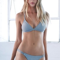 Triangle Bikini Top - Womens Swimwear - Gray