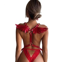 Leather Wings Harness (15 Colors)