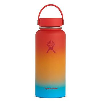 Limited Edition Hydro Flask Shaved Ice Ombre Wide Mouth 32oz - Keiki Rainbow