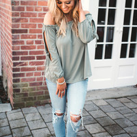 Anywhere With You Off Shoulder (olive)