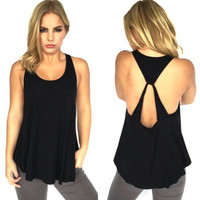 Sleeveless Flounced Top