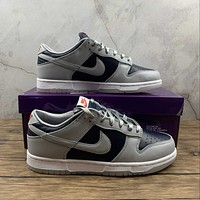 Morechoice Tuhh Nike Dunk Low Sp College Navy Casual Sneaker Skate Shoes Women Men Flats Dd1768-400