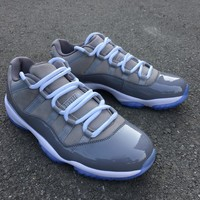 "Air Jordan 11 Low ""Cool Grey"" 528895-003   Basketball Sneaker"