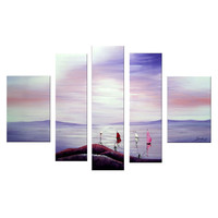 Sailing Away In Paradise Landscape Canvas Wall Art Oil Painting