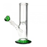 "9"" USA Made Water Pipe Glass On Glass Traveler Green"