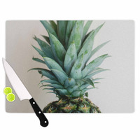 "Chelsea Victoria "" The Pineapple"" Green Gold Cutting Board"