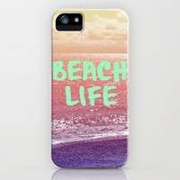 Beach Life iPhone Case by Ally Coxon | skins| cards| pillows| bags and more at Society6