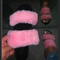 Summer new style strappy top slippers sandals leopard print women flat shoes